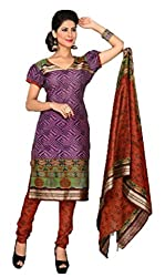 Vivacity Women's Cotton Unstitched Dress Material (GB-13_Multi_Free Size)