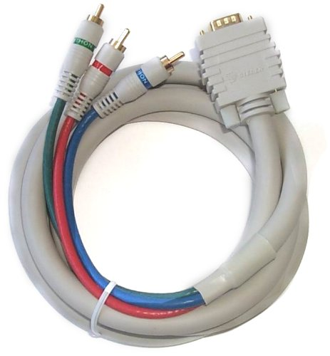 Black Point Products BV-502 6-Foot VGA to 3-RCA Component Video Cable for HDTV