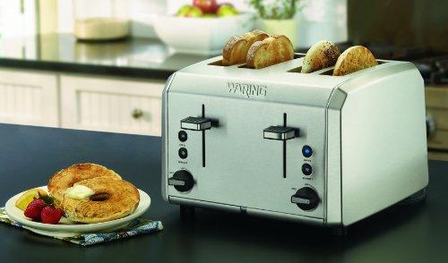 Imagen de WT400 Waring Professional 4-Slice Toaster, acero inoxidable cepillado