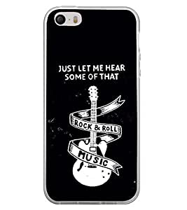 Guitar Rock and Roll 2D Hard Polycarbonate Designer Back Case Cover for Apple iPhone 5