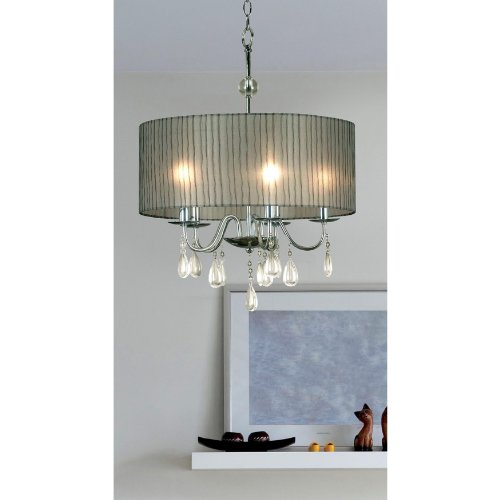 Kenroy Home 91735CH Arpeggio 5 Light Pendant, Chrome Finish