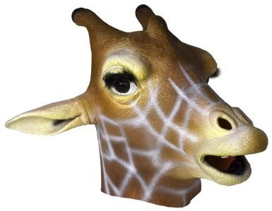 Giraffe Mask : Deluxe Latex Animal Mask