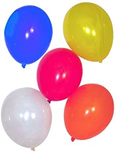 """11"""" Assorted Crystal Tone Balloons (144 pcs) by Fun Express"""