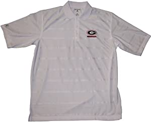 Georgia Bulldogs Polo - NCAA Antigua Mens Tone White by Antigua