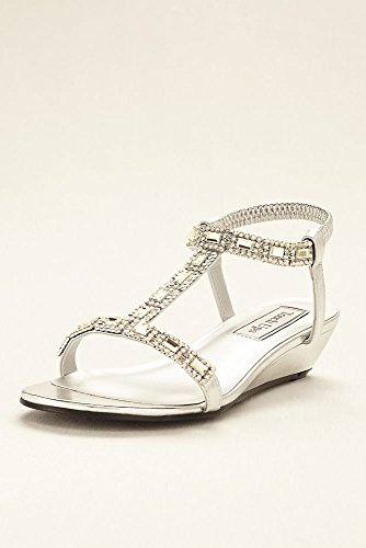 Touch Ups Women's Jazz Wedge Sandal, Silver, 7.5