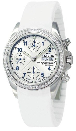 Fortis Womens Official Cosmonauts Chronograph Diamond Watch 630.14.141