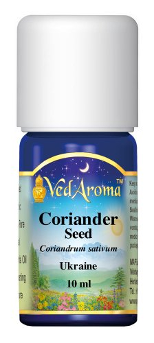VedAroma Coriander seed (Ukraine) Certified Organic Therapeutic Grade Essential Oil 10 ml