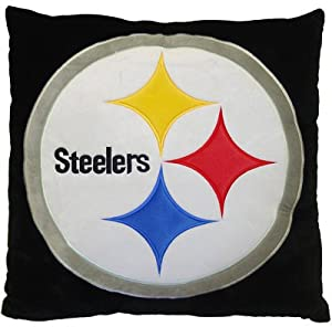 Amazon.com - Pittsburgh Steelers NFL Euro Throw/Floor Pillow 26""