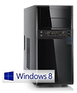 Silent multimedia PC! CSL Sprint 5766uW8P (Quad) incl. Windows 8 Pro - computer-system with AMD A8-6600K APU 4x 3900 MHz, 1000GB SATA, 8GB DDR3 RAM, ASUS Mainboard, Radeon HD 8570D - a media system for high defnition entertainment