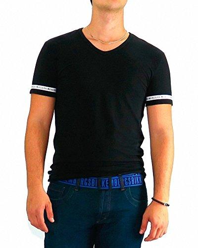 bikkembergs-tshirt-dirk-bikkembergs-black-one-stripe-xl-black