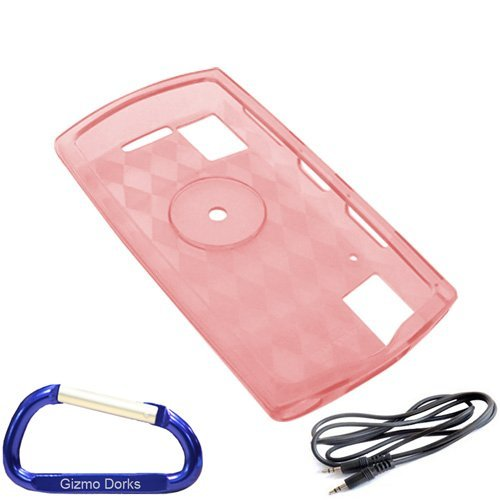 Premium Car Combo Pack: Pink Silicone Skin Case Cover 3.5mm to 3.5mm Auxiliary Stereo Cable and Free Carabiner Key Chain for the Sony Walkman S Series (NWZ-S540 NWZ-S544 NWZ-S545) MP3 Player  available at amazon for Rs.1849