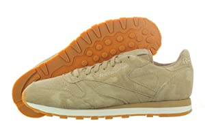 Reebok Men's CL Leather Embossed Camo Classic Shoe,Canvas/Sandtrap/Gum,11 M US