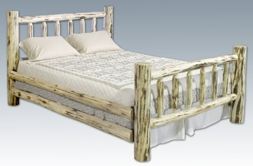 Montana Woodworks Eastern King Log Bed Varnished 94x80