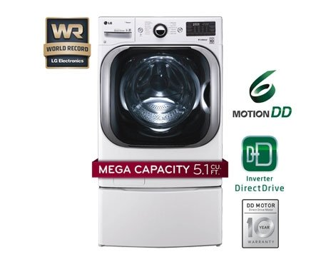LG WM8000HWA TurboWash 5.1 Cu. Ft. White Stackable With Steam Cycle Front Load Washer – Energy Star Reviews