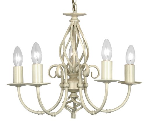 Tuscany 5 Light Ceiling Fitting  Ivory / Cream Painted Finish