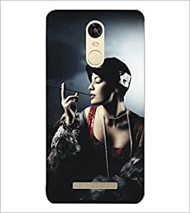 PrintDhaba Hat Girl D-5292 Back Case Cover for XIAOMI REDMI NOTE 3 (Multi-Coloured)