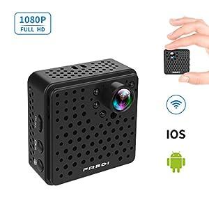 FREDI 超小型 隠しカメラ WiFi 長時間録画対応 防犯カメラ 1080P (L17-1080P ブラック)