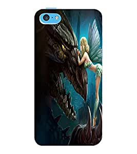 ColourCraft Angel Design Back Case Cover for APPLE IPHONE 5C