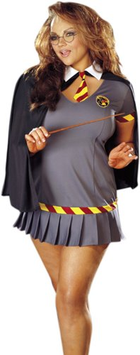 Plus Size Sexy Wizard Girl Costume Size 1X