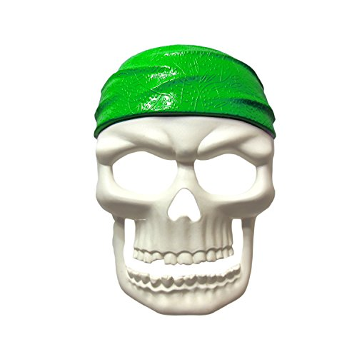 Pirate Party Masks - Pirate Skull Mask - Pirate Masquerade Mask -White/Green