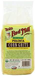 Bob's Red Mill Organic Corn Grits/Polenta, 24-Ounce (Pack of 4)