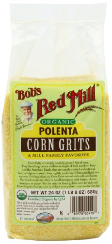Bob's Red Mill Organic Corn Grits / Polenta, 24-ounce (Pack of 4) (Corn Grits compare prices)