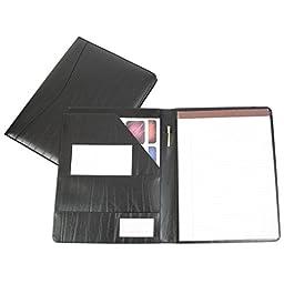 Royce Leather Genuine Leather Padfolio (Black)