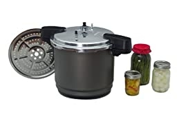 Granite Ware F0732-2 Pressure Canner and Cooker/Steamer, 12-Quart, Black