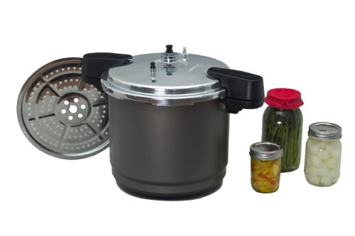 Granite Ware F0732-2 Pressure Canner and Cooker/Steamer, 12-Quart, Black