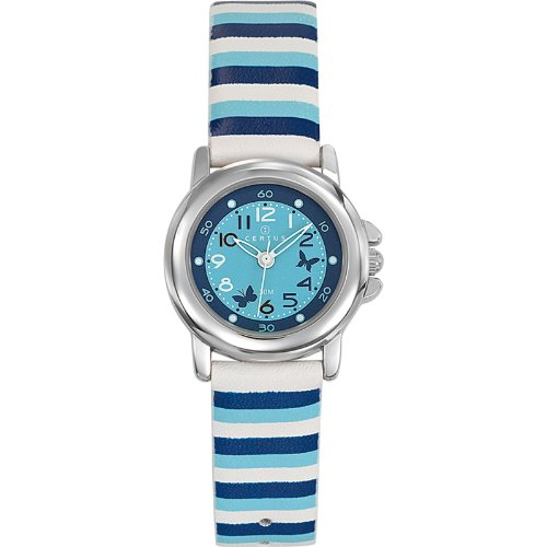 Certus 647551 - Unisex Watch - Analogue Quartz - Blue Dial - Bracelet Cuir Multicolore