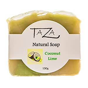 Taza Coconut Lime Natural Soap (3 pack) 150 grams/ 5 ounces each