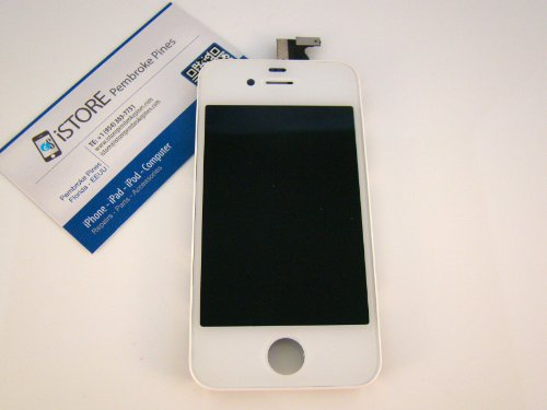 Fits Iphone 4S Lcd Display Screen Touch Digitizer Assembly Frame Parts Usa (White)