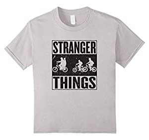 Kids Stranger Tee Shirt Things T-Shirt 4 Silver