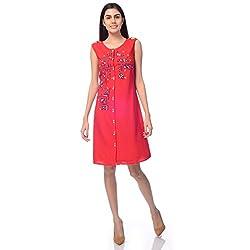 Desi Belle Casual Sleevless Embroidery Women's Dress