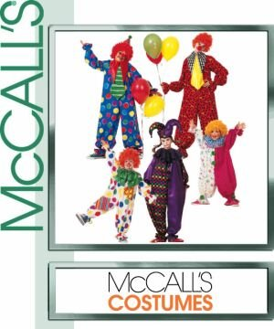 McCall's Costume Sew Pattern 3306 CLOWN COSTUMES Boys and Girls Size 7-8 (Clown Costume Patterns)