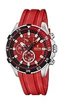 Festina Unisex F16604/4 Red Plastic Quartz Watch with Red Dial