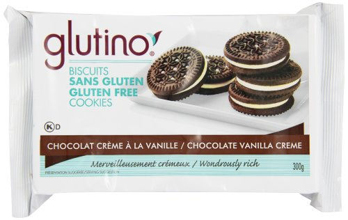 Glutino Gluten free chocolate vanlla cream cookie, 300gm