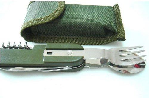 Crazy Shopping Multi-Tool Fork Opener Spoon Bottle Opener Army Style Knife