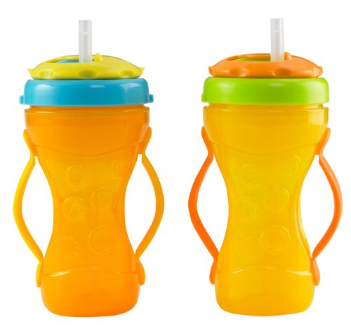 Fisher-Price Two-Grip Travel Sippy Cup Straw Top, Neutral, Large, 2-Count front-95670