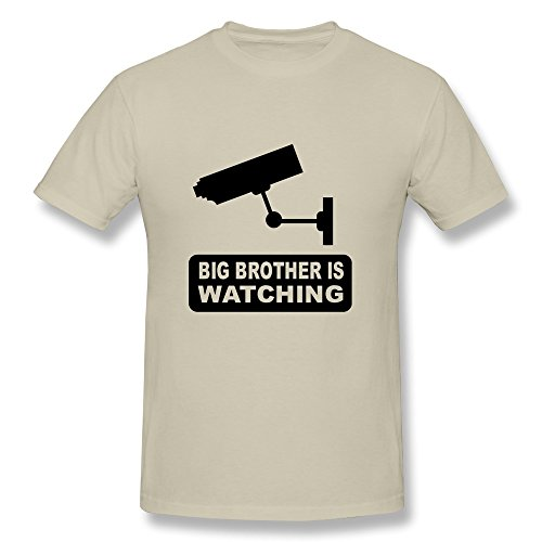 Ptcy Youth Tshirt Big Brother Watching Us Size Xxl Natural front-505560