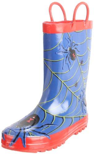 Western Chief Spider Rain Boot (Toddler/Little Kid/Big Kid),Blue,6 M US Big Kid