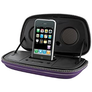 iHome IP29 Portable Speaker Case for iPod and iPhone (Purple)