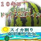 【愛知県豊橋産】ドデカ大玉スイカ1玉10kg、10キロオーバー保証。おいしさ保証!7月初旬から発送予定 ランキングお取り寄せ