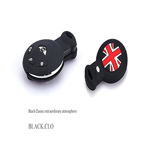 beierte-fashion-colorful-remote-car-key-silicone-cover-skin-jacket-fit-for-mini-cooper-black