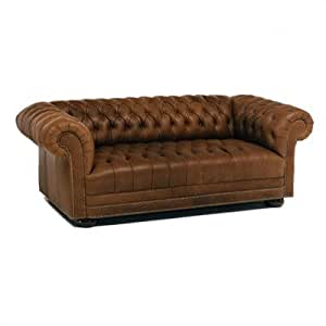 Amazon Distinction Leather 653 Series Tufted Chesterfield Leather Sofa Toys & Games