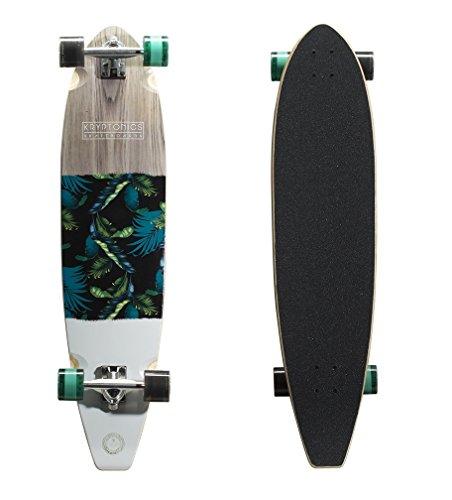 """Kryptonics Blocktail Longboard 40"""" Complete Skateboard - Tahiti"""