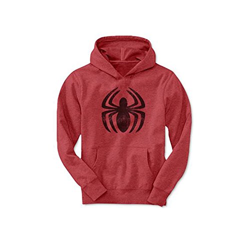 Marvel Spider-Man Boys' Spidey Crawl Pullover Hoodie (Small) (Marvel Sweatshirt Kids compare prices)
