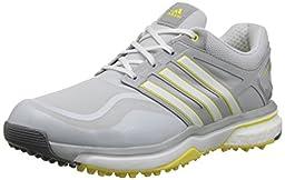 adidas Women\'s W Adipower S Boost Golf Shoe, Clear Grey/Running White/Light Yellow, 8 M US