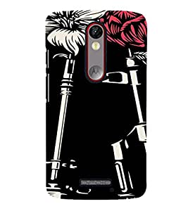 PrintVisa Guns And Roses Design 3D Hard Polycarbonate Designer Back Case Cover for Motorola Moto X Force