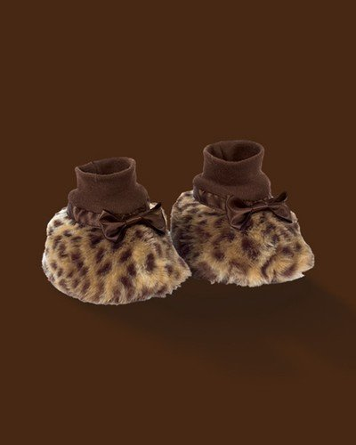 Plush Luxe Leopard Baby Bootees. 6-12 months.